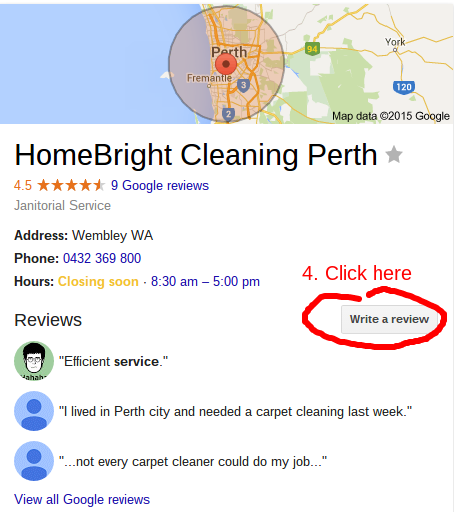 Review Us On Google Step 2